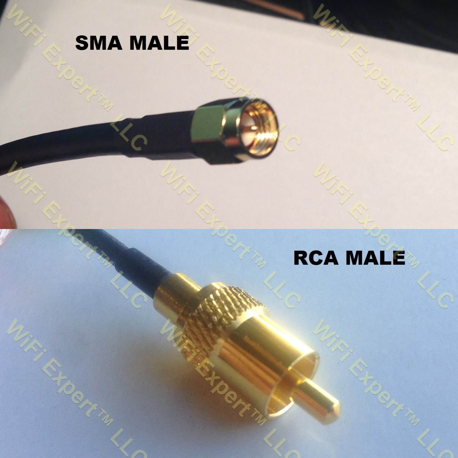 Rg316 Sma Male To Rca Male Coaxial Rf Pigtail Cable Rf
