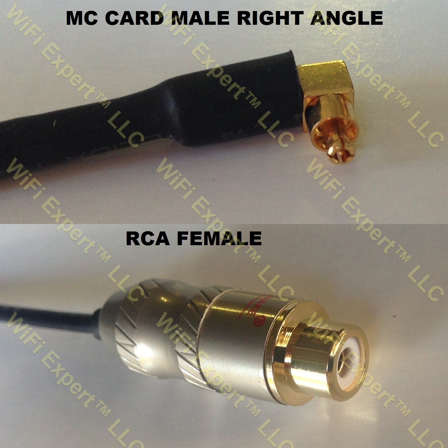 Rg316 Mc Card Male Angle To Rca Female Coaxial Rf Pigtail