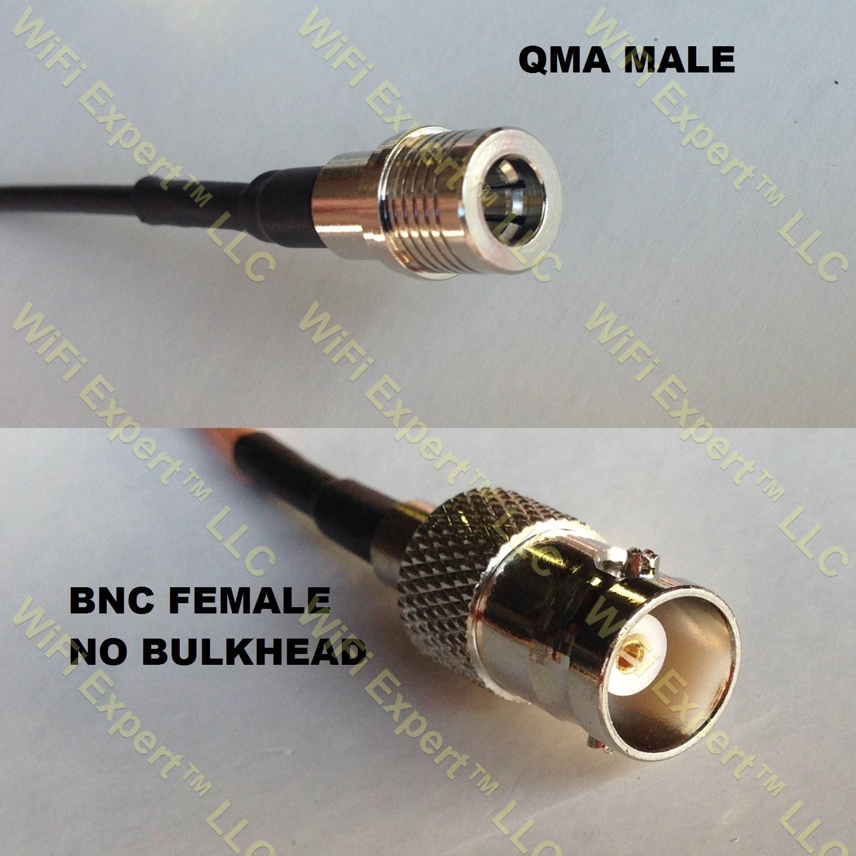 RG400 TNC MALE to BNC Female Big Bulkhead Coaxial RF Pigtail Cable USA