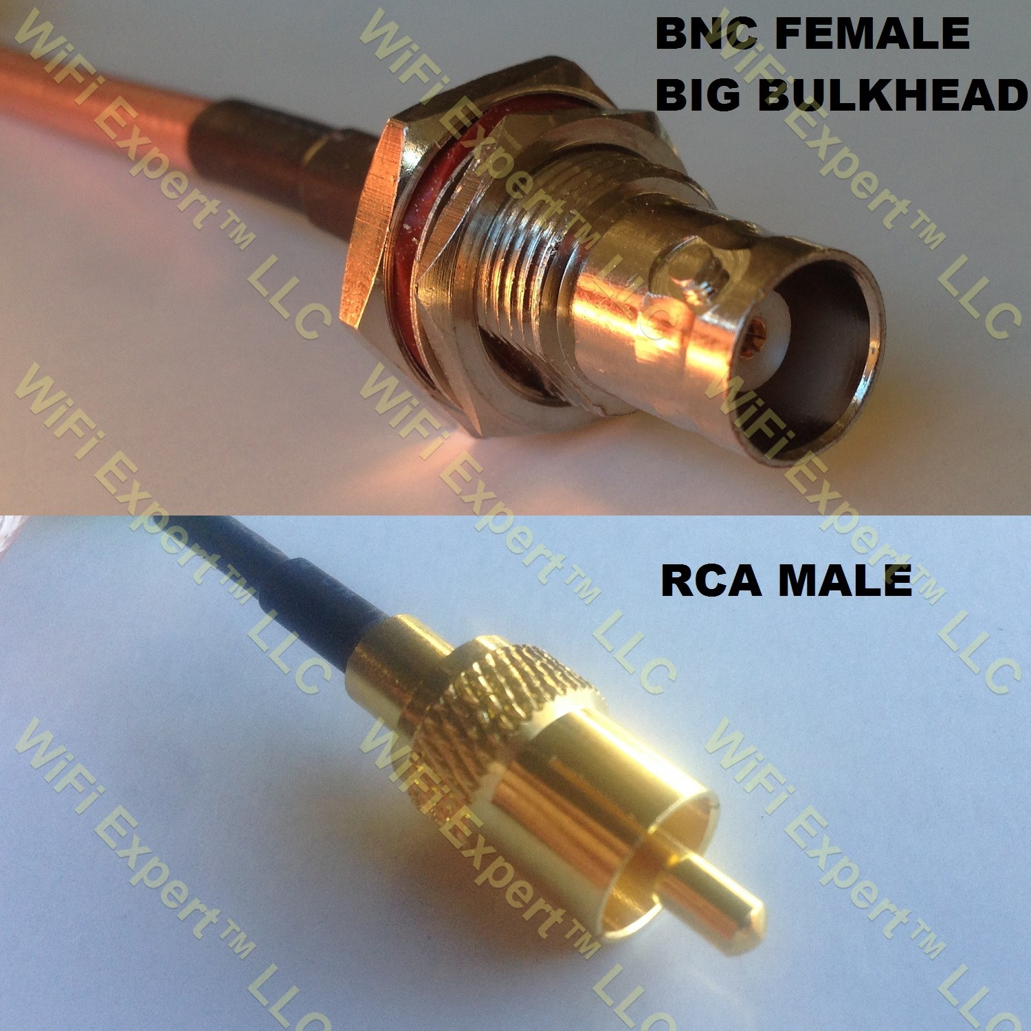 Rg58 Bnc Female Big Bulkhead To Rca Male Coaxial Rf