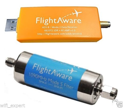 Pro Stick USB ADS-B Receiver + 1090MHz Band-pass Filter from FlightAware