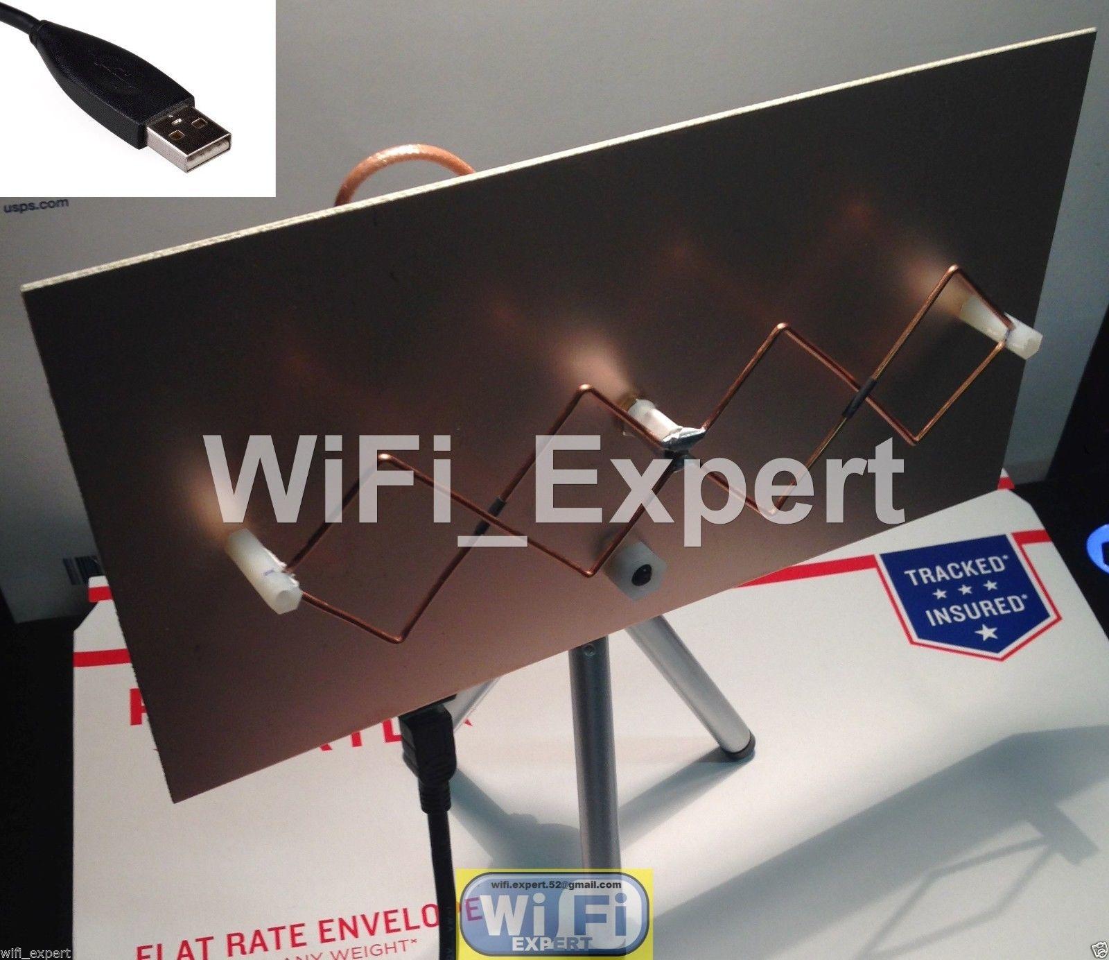 WiFi Antenna MACH1GA Double Biquad Wireless Booster Long Range GET FREE  INTERNET