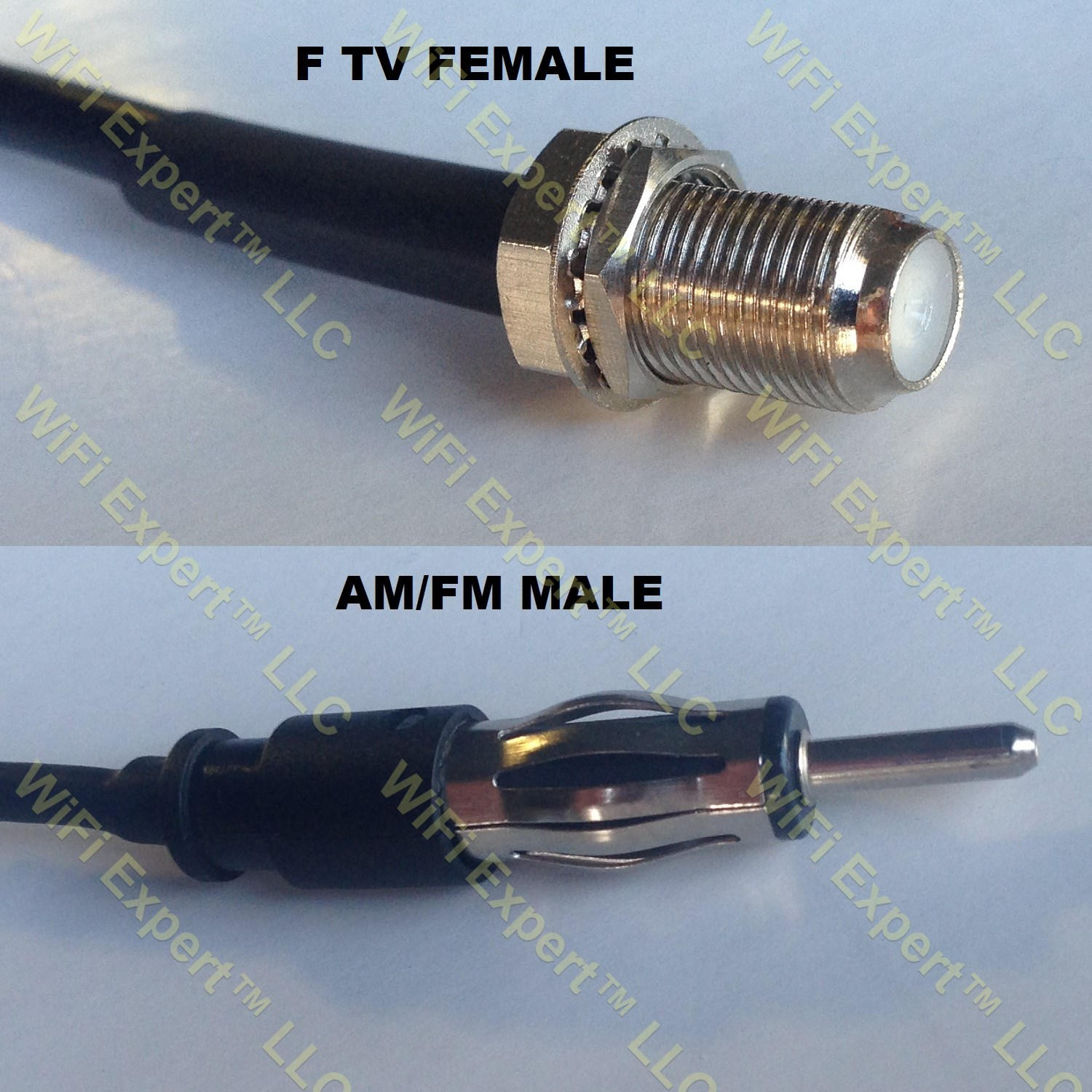 Rg58 F Female To Am Fm Male Coaxial Rf Pigtail Cable Rf