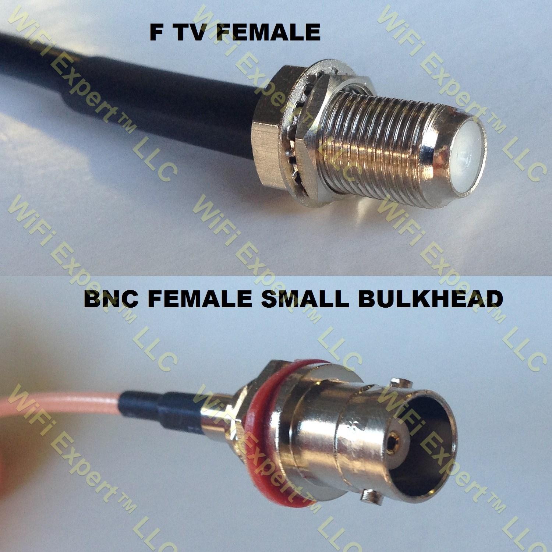 Rg f female to bnc sm bulkhead coaxial rf