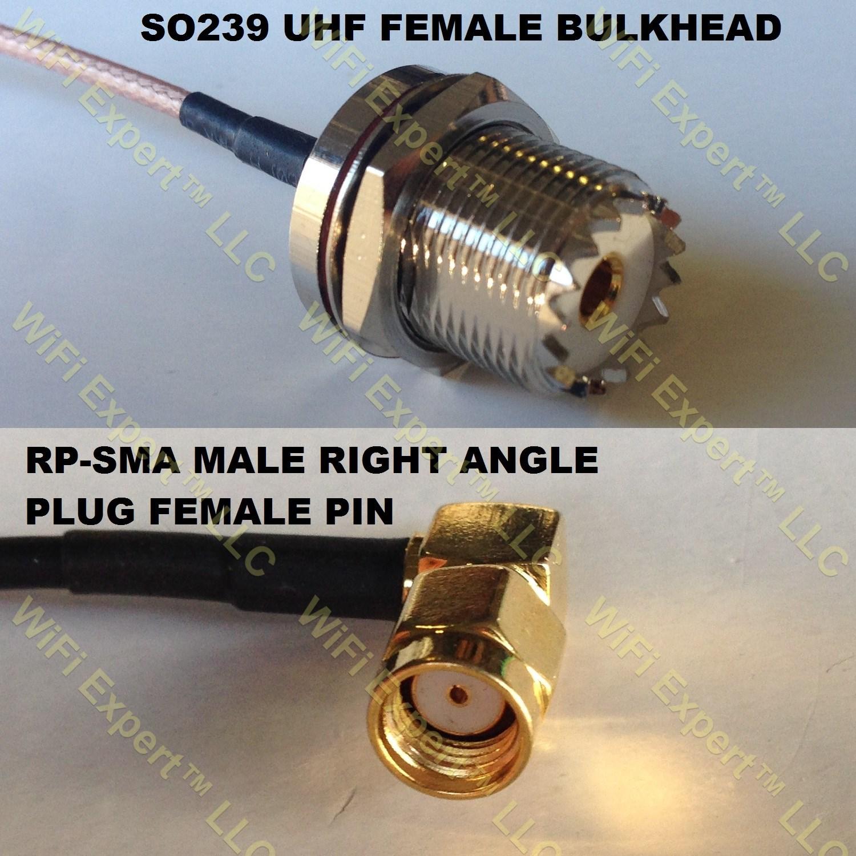 3 feet RG316 UHF Female Angle Bulkhead to TNC Male Angle RF Pigtail Coaxial Cable
