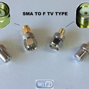 F Type Male Jack To Sma Male Plug Straight Adapter Rf Connector Converter Rf Coaxial Cables Adapters Connectors Antennas Router Mod Kits Ham Radio Products Alfa And Cellphone Boosters