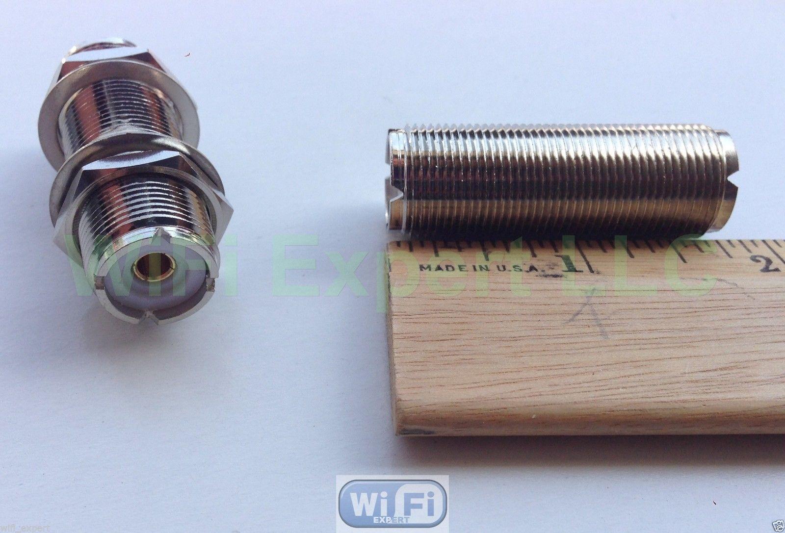 ″ double female so uhf bulkhead connector for