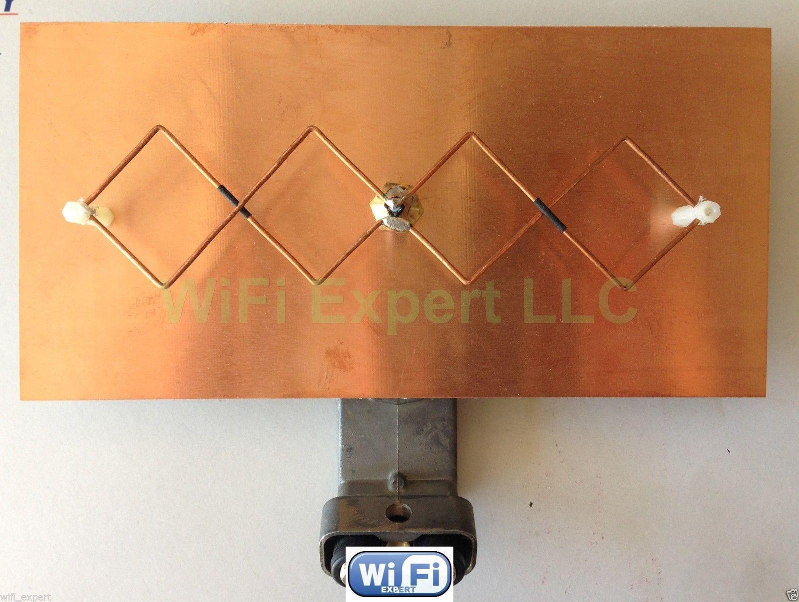 WiFi Antenna Double BiQuad MACH1 V2B Dish Booster Long Range GET