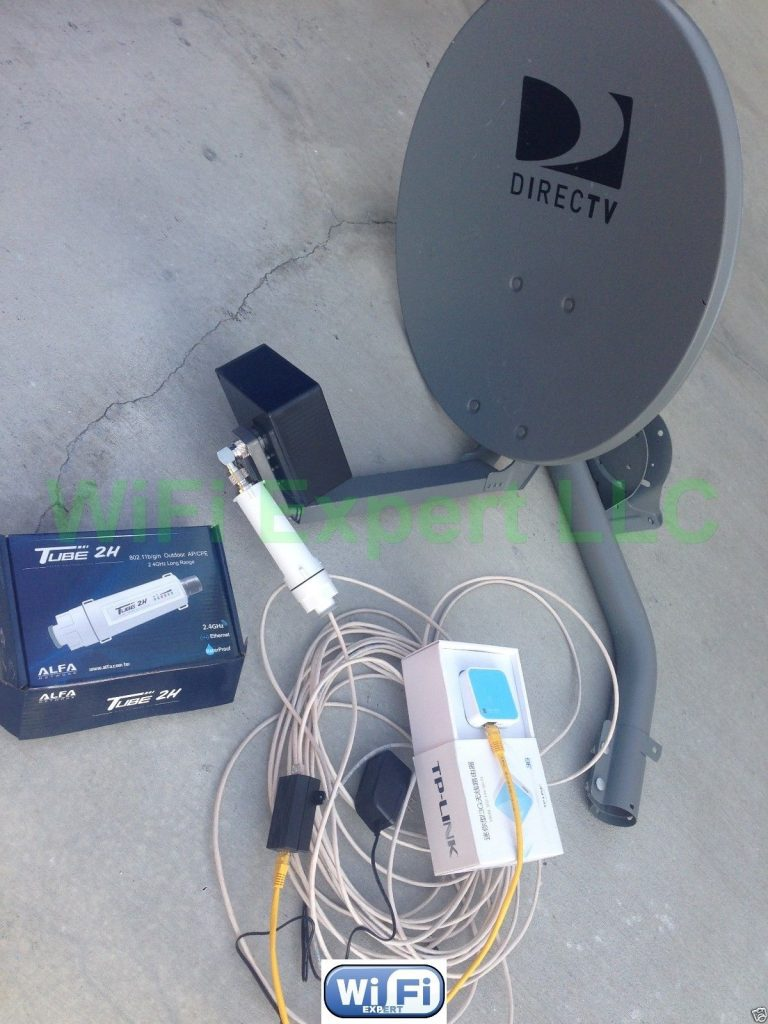 No Dish Biquad Wifi Antenna Tl703n Alfa Poe Tube 2h