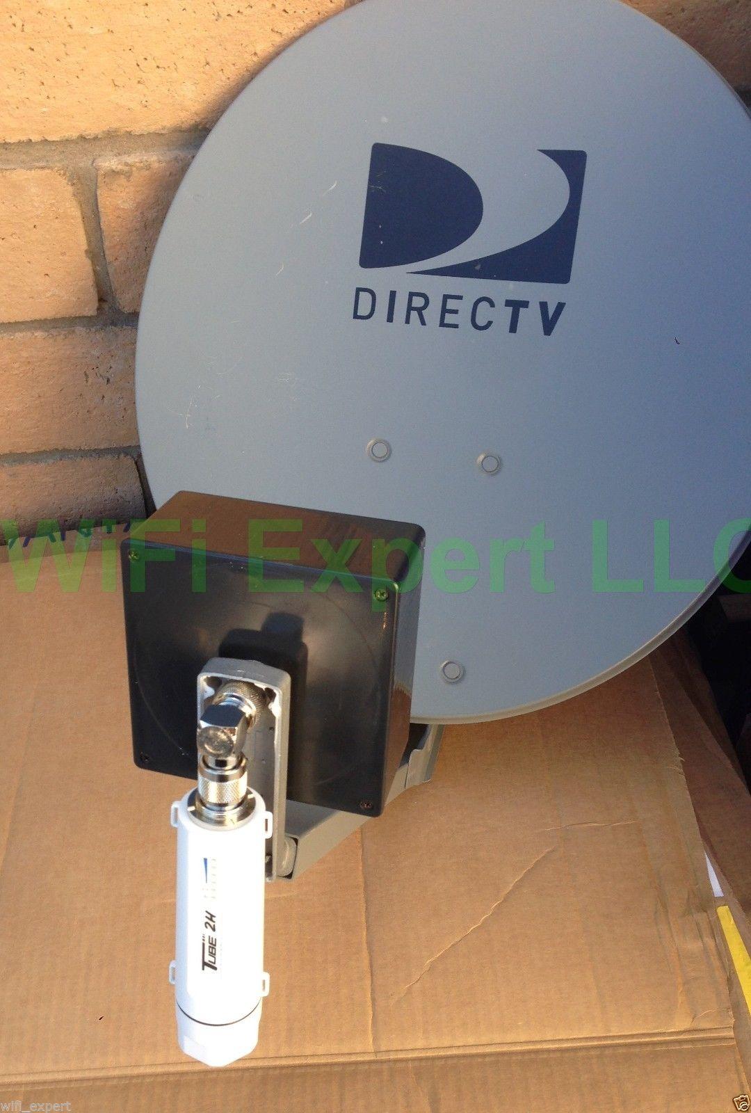 Dish Biquad Wifi Antenna Alfa R36 Poe Tube 2h Booster