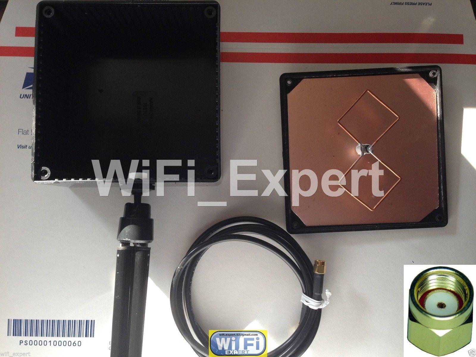 WiFi Antenna 2 4Ghz Enclosed BiQuad MACH 2B Tripod Wireless Booster Long  Range N