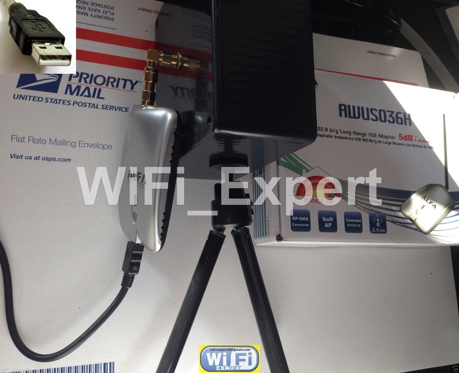 Wifi Antenna 15dbi Biquad Alfa R36 G N Net Long Range