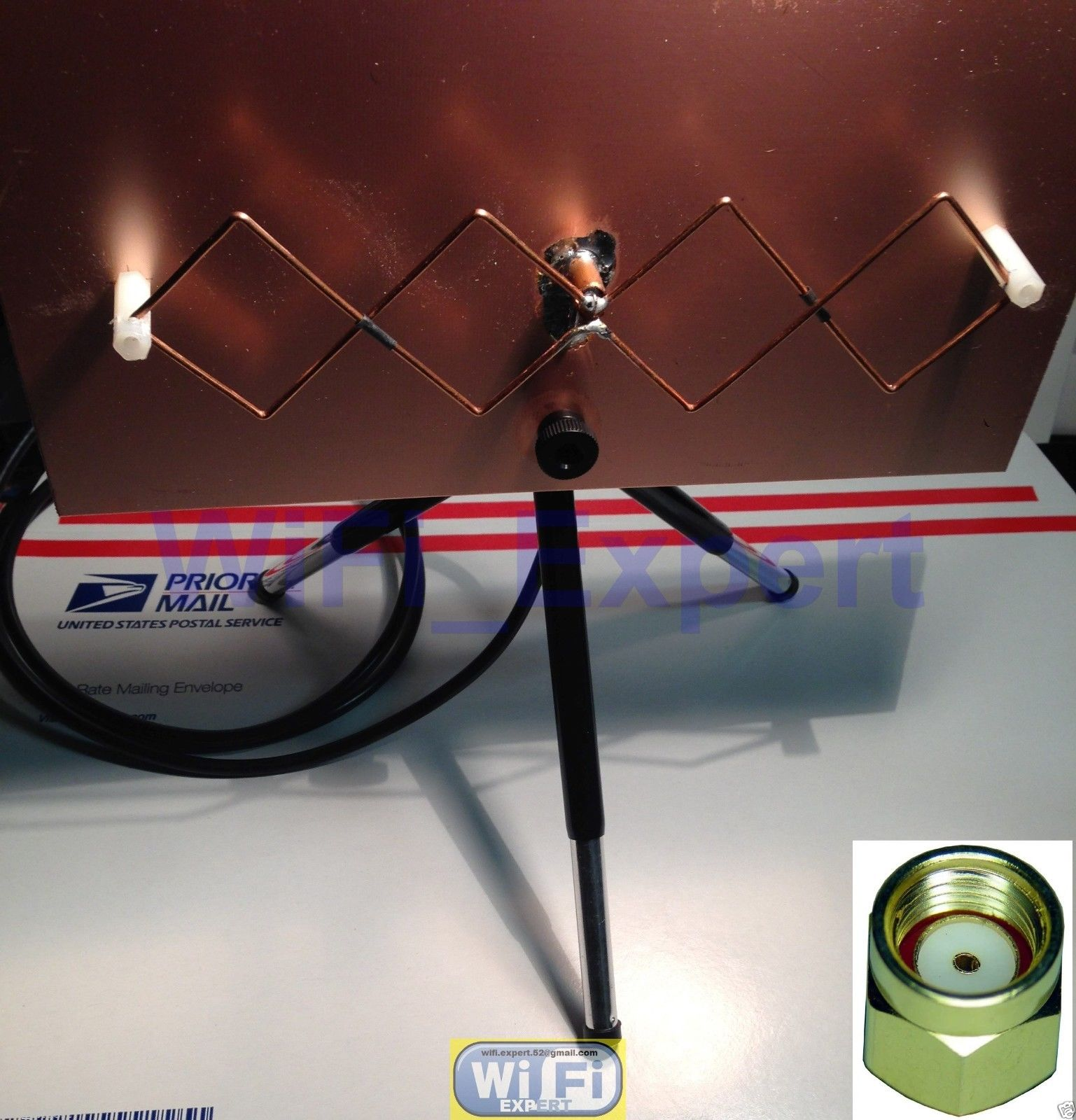 WiFi Antenna MACH 1 Double Biquad Wireless Booster Long Range GET FREE  INTERNET
